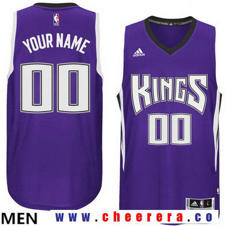 Men's Sacramento Kings Historic Purple Custom adidas Swingman Road Basketball Jersey