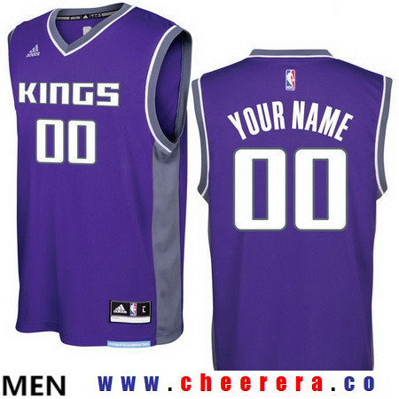 Men's Sacramento Kings Purple 2016-17 Custom adidas Swingman Road Basketball Jersey