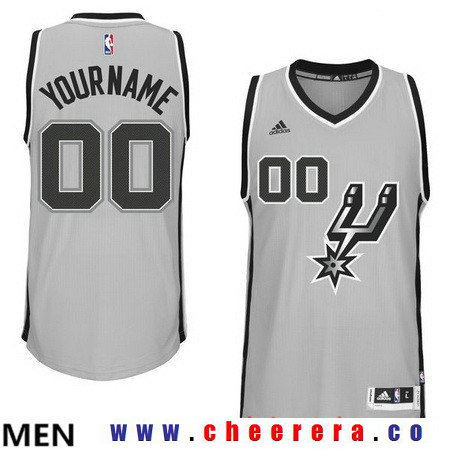 Men's San Antonio Spurs Gray Custom Swingman adidas Swingman Alternate Basketball Jersey
