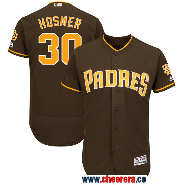 Men's San Diego Padres #30 Eric Hosmer Majestic Brown Alternate Authentic Collection Flex Base Player Jersey