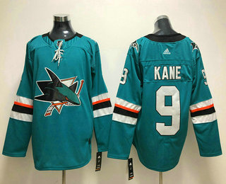 Men's San Jose Sharks #9 Evander Kane Teal Green 2017-2018 Hockey Stitched NHL Jersey