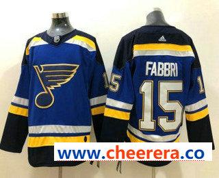 Men's St. Louis Blues #15 Robby Fabbri Blue 2017-2018 Hockey Stitched NHL Jersey