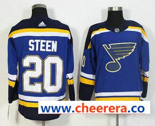 Men's St. Louis Blues #20 Alexander Steen Blue 2017-2018 Hockey Stitched NHL Jersey