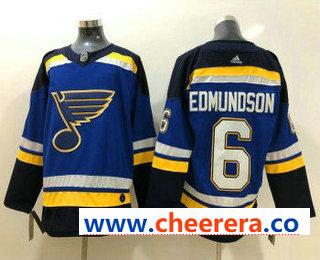 Men's St. Louis Blues #6 Joel Edmundson Blue 2017-2018 Hockey Stitched NHL Jersey