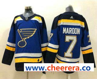Men's St. Louis Blues #7 Pat Maroon Blue 2017-2018 Hockey Stitched NHL Jersey
