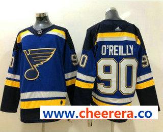Men's St. Louis Blues #90 Ryan O'Reilly Blue 2017-2018 Hockey Stitched NHL Jersey