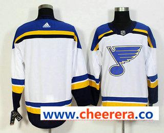 Men's St. Louis Blues Blank White 2017-2018 Hockey Stitched NHL Jersey