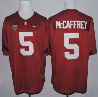 Men's Standford Cardinals #5 Christian McCaffrey Red 2015 College Football Nike Limited Jersey