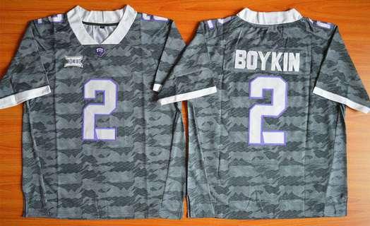 Men's TCU Horned Frogs #2 Trevone Boykin Gray College Football Limited Jersey