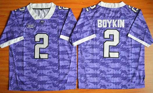 Men's TCU Horned Frogs #2 Trevone Boykin Purple College Football Limited Jersey
