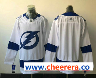 Men's Tampa Bay Lightning Blank White 2017-2018 Hockey Stitched NHL Jersey