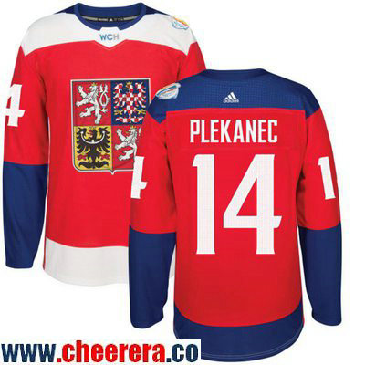 Men's Team Czech Republic #14 Tomas Plekanec Red 2016 World Cup of Hockey Stitched adidas WCH Game Jersey