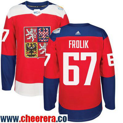 Men's Team Czech Republic #67 Michael Frolik Red 2016 World Cup of Hockey Stitched adidas WCH Game Jersey