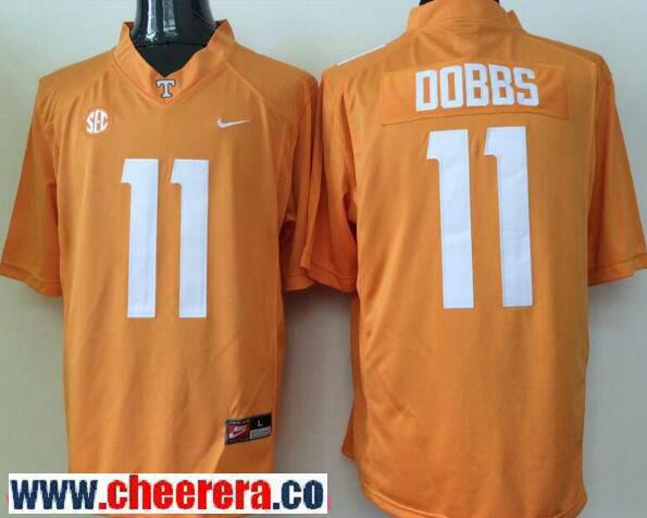 Men's Tennessee Volunteers #11 Joshua Dobbs Orange Stitched NCAA Nike College Football Jersey