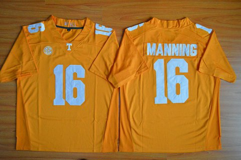 Men's Tennessee Volunteers #16 Peyton Manning Orange 2015 College Football Jersey