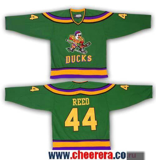 Men's The Movie The Mighty Ducks #44 Fulton Reed Green Stitched Ice Hockey Jersey
