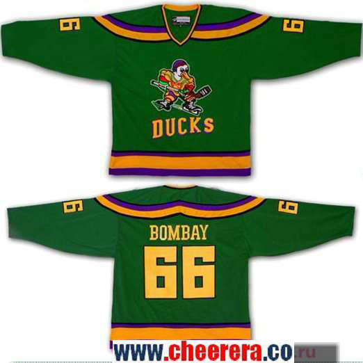 Men's The Movie The Mighty Ducks #66 Gordon Bombay Green Stitched Ice Hockey Jersey