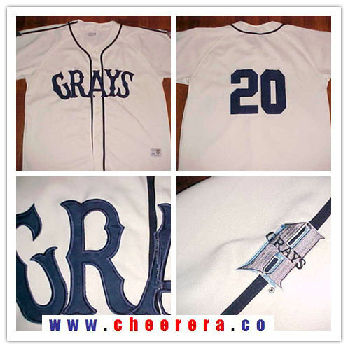 Men's The Movie USA Negro Leagues NLBM Homestead Grays #20 Josh Gibson Cream Stitched Baseball Jersey