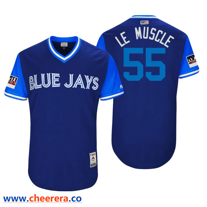 Men's Toronto Blue Jays Authentic Russell Martin #55 Royal 2018 LLWS Players Weekend Le Muscle Jersey