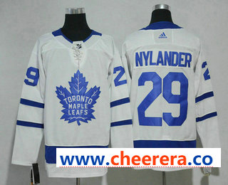 Men's Toronto Maple Leafs #29 William Nylander White Home 2017-2018 Hockey Stitched NHL Jersey