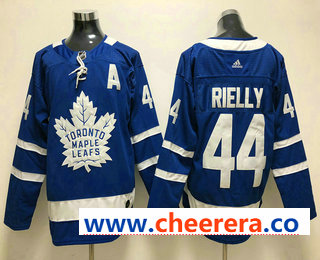 Men's Toronto Maple Leafs #44 Morgan Rielly Royal Blue Home 2017-2018 Hockey Stitched NHL Jersey