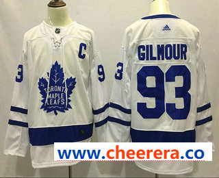 Men's Toronto Maple Leafs #93 Doug Gilmour White 2017-2018 Hockey Stitched NHL Jersey
