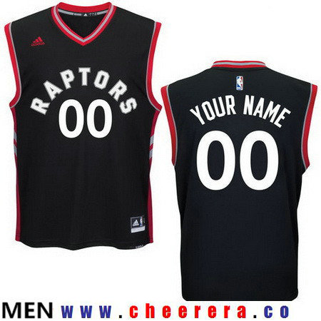 Men's Toronto Raptors New Black Custom adidas Swingman Alternate Basketball Jersey
