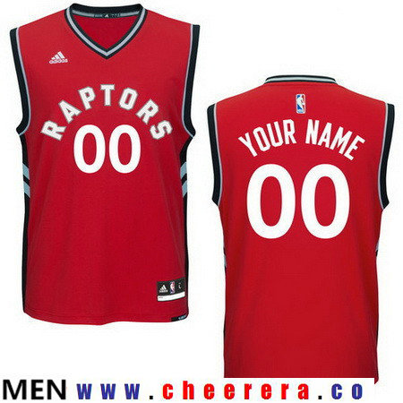 Men's Toronto Raptors New Red Custom adidas Swingman Road Basketball Jersey