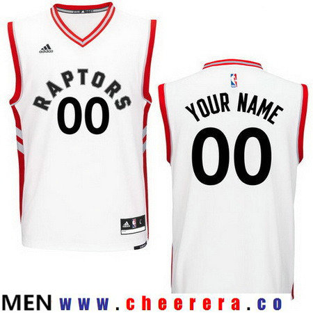 Men's Toronto Raptors New White Custom adidas Swingman Home Basketball Jersey