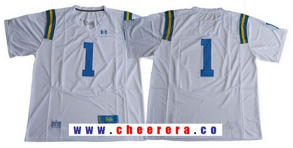 Men's UCLA Bruins #1 No Name White 2017 College Football Stitched Under Armour NCAA Jersey