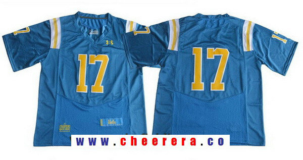 Men's UCLA Bruins #17 No Name Light Blue 2017 College Football Stitched Under Armour NCAA Jersey