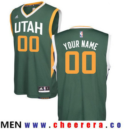 Men's Utah Jazz Green Custom adidas Swingman Alternate Basketball Jersey
