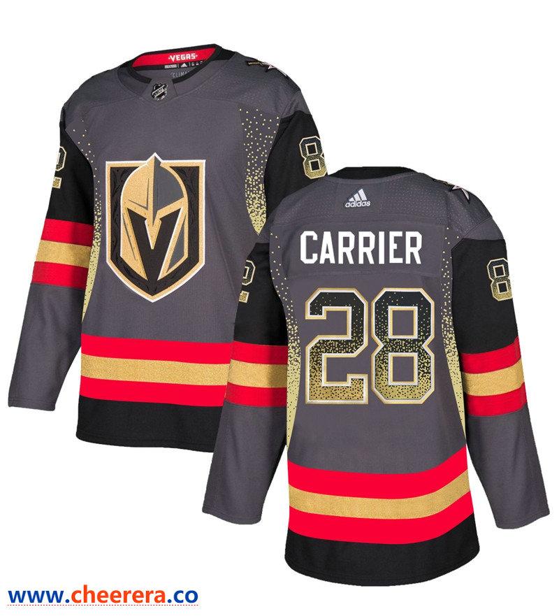 Men's Vegas Golden Knights #28 William Carrier Gray Drift Fashion Jersey