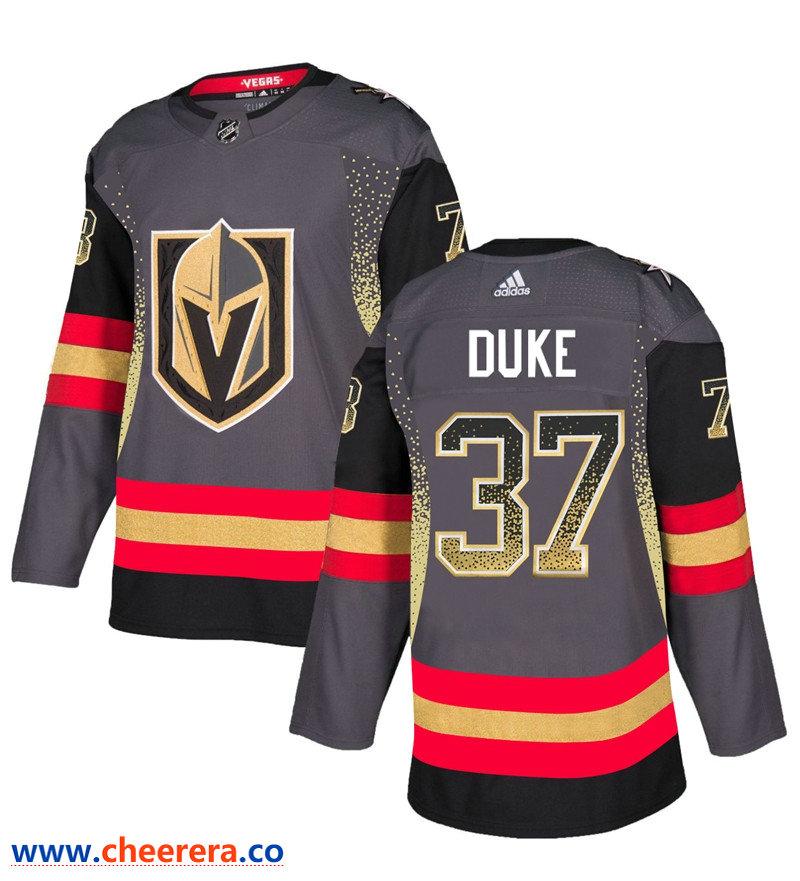 Men's Vegas Golden Knights #37 Reid Duke Gray Drift Fashion Jersey