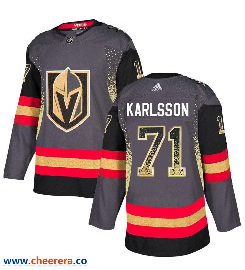Men's Vegas Golden Knights #71 William Karlsson Gray Drift Fashion Jersey