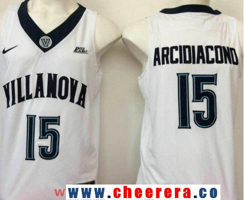 Men's Villanova Wildcats #15 Ryan Arcidiacono White College Basketball Nike Swingman Stitched NCAA Jersey