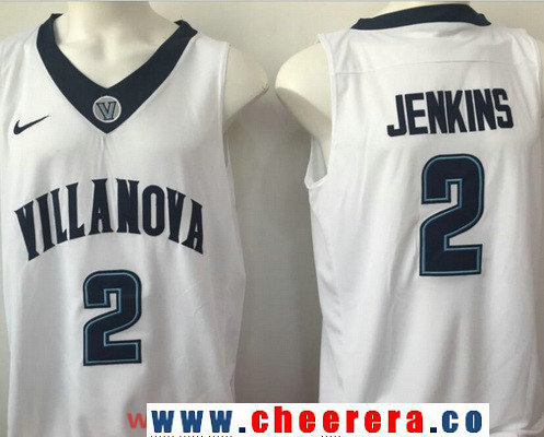 Men's Villanova Wildcats #2 Kris Jenkins White College Basketball Nike Swingman Stitched NCAA Jersey