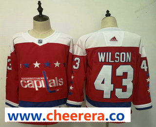 Men's Washington Capitals #43 Tom Wilson NEW Red 2019 Stitched NHL Hockey Jersey