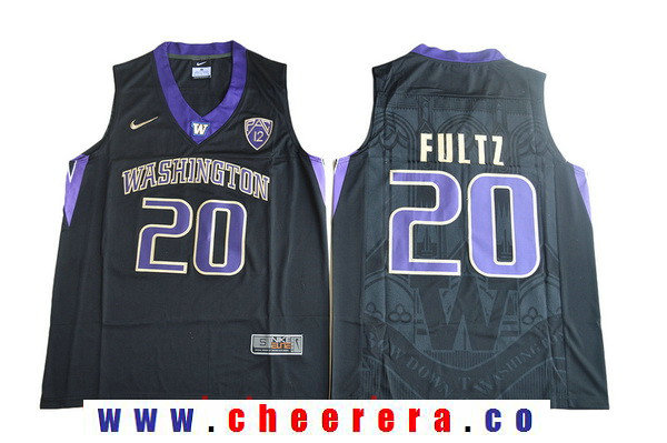 Men's Washington Huskies #20 Markelle Fultz Black College Basketball 2017 Nike Swingman Stitched NCAA Jersey