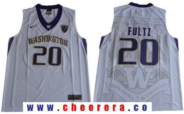 Men's Washington Huskies #20 Markelle Fultz White College Basketball 2017 Nike Swingman Stitched NCAA Jersey