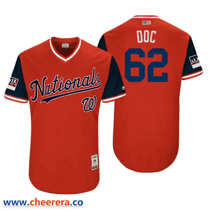 Men's Washington Nationals Authentic Sean Doolittle #62 Red 2018 LLWS Players Weekend Doc Jersey