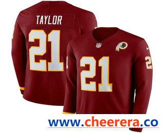 Men's Washington Redskins #21 Sean Taylor Nike Red Therma Long Sleeve Limited Jersey
