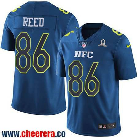 Men's Washington Redskins #86 Jordan Reed Navy Blue NFC 2017 Pro Bowl Stitched NFL Nike Game Jersey