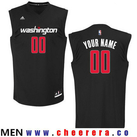 Men's Washington Wizards Custom adidas Black Fashion Basketball Jersey