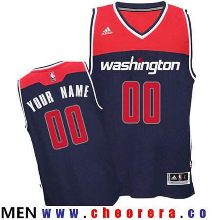 Men's Washington Wizards Navy Blue Custom adidas Swingman Alternate Basketball Jersey