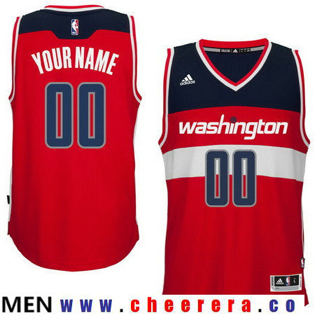 Men's Washington Wizards Red Custom adidas Swingman Road Basketball Jersey