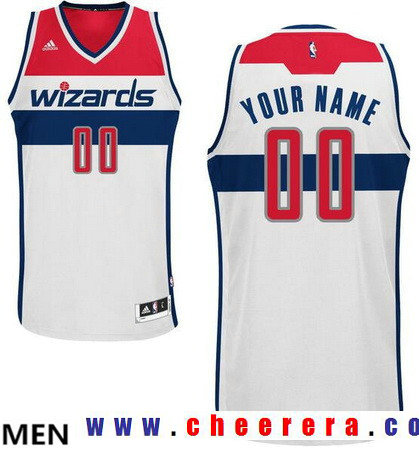 Men's Washington Wizards White Swingman Custom adidas Swingman Home Basketball Jersey