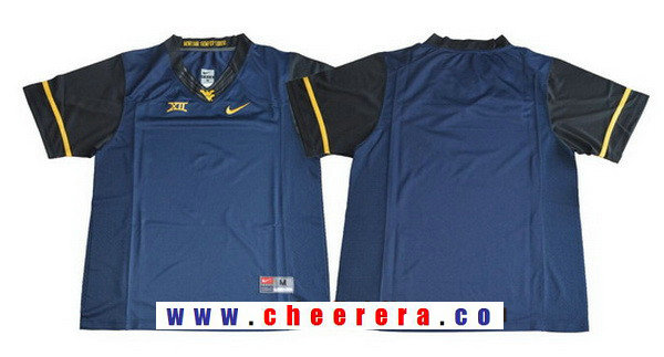 Men's West Virginia Mountaineers Blank Navy Blue Limited College Football Stitched Nike NCAA Jersey