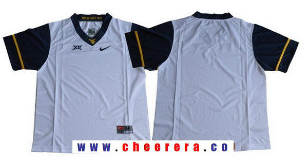 Men's West Virginia Mountaineers Blank White Limited College Football Stitched Nike NCAA Jersey