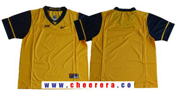 Men's West Virginia Mountaineers Blank Yellow Limited College Football Stitched Nike NCAA Jersey